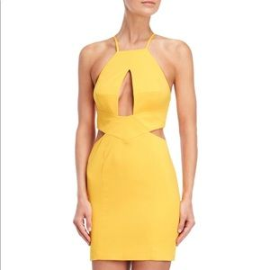 Jay Godfrey Gold Fusion Cutout Mini Dress
